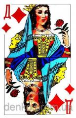 Playing cards lady