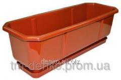 Cache-pot of Balcony 40 cm brown 25sht/unitary
