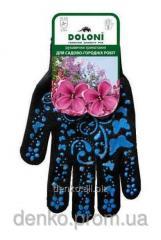 Doloni garden gloves blue drawing