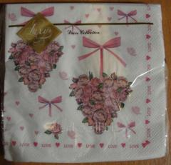 Luxy napkin heart from roses