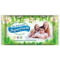 Wet towel wipes Superfresh Baby of 60 pieces