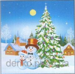 Napkin ng Luxy cheerful snowmen