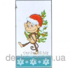 Napkin ng Luxy is small the monkey with a fir-tree