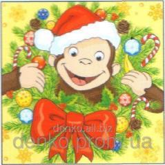 Napkin ng Luxy New Year's monkey