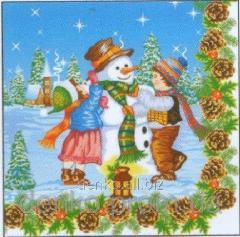 Napkin ng Luxy snowman festive