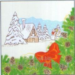Napkin new year of La Fleur winter dress