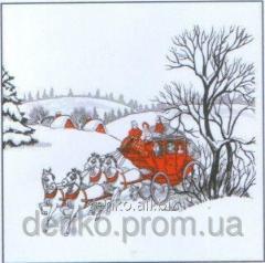 Napkin new year of La Fleur winter carriage