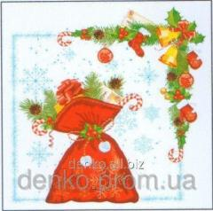 Napkin new year of La Fleur a bag with gifts