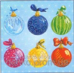 Napkin new year of La Fleur New Year's balls