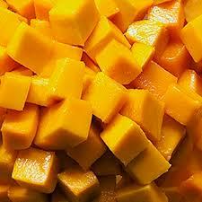 Mango cube frozen