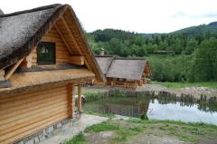 Wooden houses for res