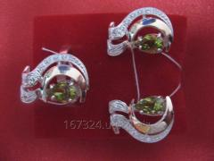 Set of an earring and ring