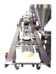 Lines confectionery for production of cakes
