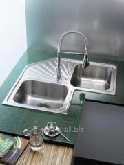 Angular kitchen sink of Teka from stainless steel,