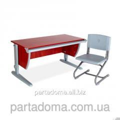 Стол универсальный трансформируемый СУТ.15+Стул яблоня/серый