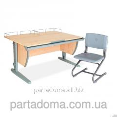 Стол универсальный трансформируемый СУТ.15-01+Стул клен/серый