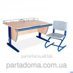 Стол универсальный трансформируемый СУТ.15-01 +Стул клен /синий