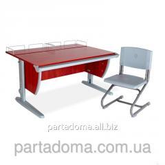 Стол универсальный трансформируемый СУТ.15-01+Стул яблоня/серый