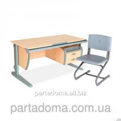 Стол универсальный трансформируемый СУТ.15-03+Стул клен/серый