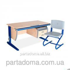 Стол универсальный трансформируемый СУТ.15-03+Стул клен/синий