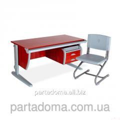 Стол универсальный трансформируемый СУТ.15-03+Стул яблоня/серый