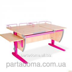 Стол универсальный трансформируемый СУТ.17.04-02 клен/розовый