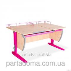 Стол универсальный трансформируемый СУТ.17.04-01 клен/розовый