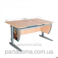 Стол универсальный трансформируемый СУТ.17.04-01 клен/серый с рисунком,фрегат