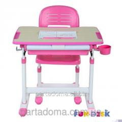 Комплект парта и стул-трансформеры FunDesk Bambino Pink