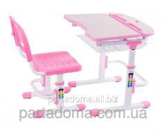 Комплект FunDesk Парта и стул-трансформеры Colore Pink