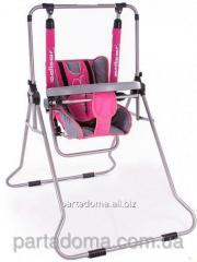 Детские качели Adbor n1 ,cо столиком розовый-графит