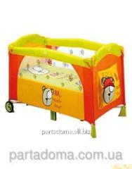 Детский манеж Baby care m160 bear orange оранжевый