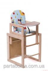 Детский стульчик трансформер, божьи коровки на голубом фоне