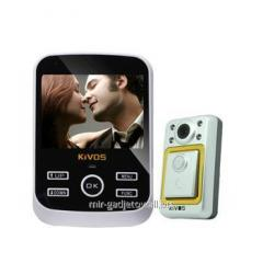 Video peephole with 3,5 inch screen the Kivos