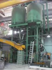 Metal tanks of the different sizes and designs