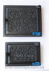 Дверка чугунная ( комплект - топочная , поддувало) (STK СЧ-54)