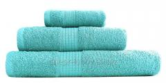 Terry towel (density 400gr/sq.m), 40sm*70sm, turquoise