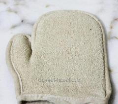 Мочалка-рукавица массажная Варежка (двухсторонняя)