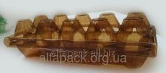 Plastic packing for eggs of 10 pieces (brown),