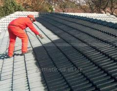 Mastic bituminous and polymeric roofing