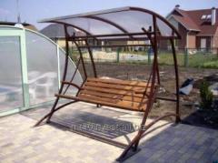 Садовая мебель, кованые лавочки, кованые качели,