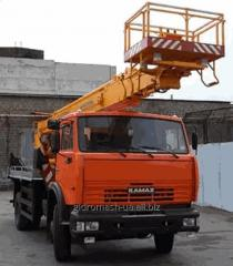 The car lift telescopic AP-28, the isolated cradle
