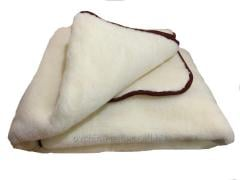 Blanket from sheep wool white, Evreux double