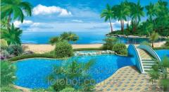 "Photowall-paper ""Earthly paradise"