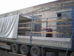 Movable roof for the truck, the truck