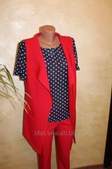 Suit: vest, blouse, trousers