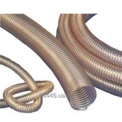 Hoses corrugated wearproof of polyurethane