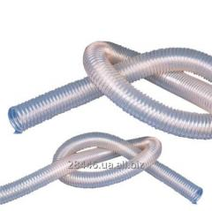 Corrugated hoses resistant to ignition of PU and