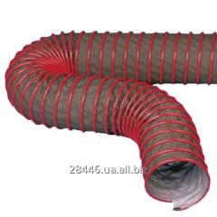 Hoses from fabric and a foil corrugated