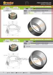 Brake drum FRENKA 0310967190, art.
